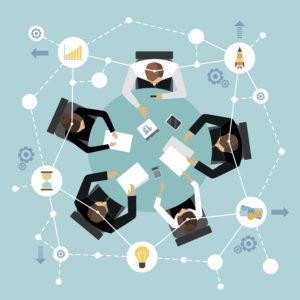 red configura los entornos organizativos